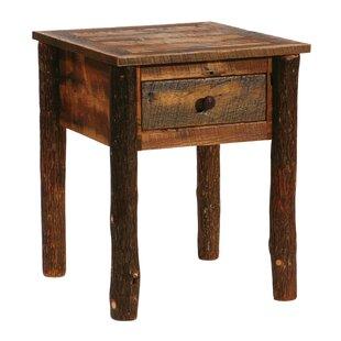 Fireside Lodge Barnwood 1 Drawer Nightstand