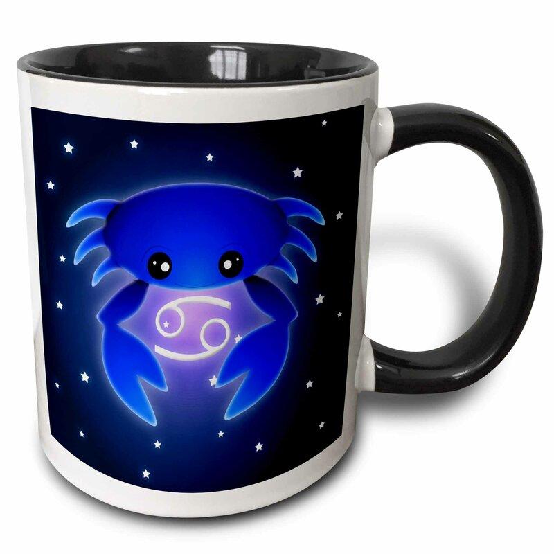 East Urban Home Cute Astrology Cancer Zodiac Sign Crab Coffee Mug Wayfair