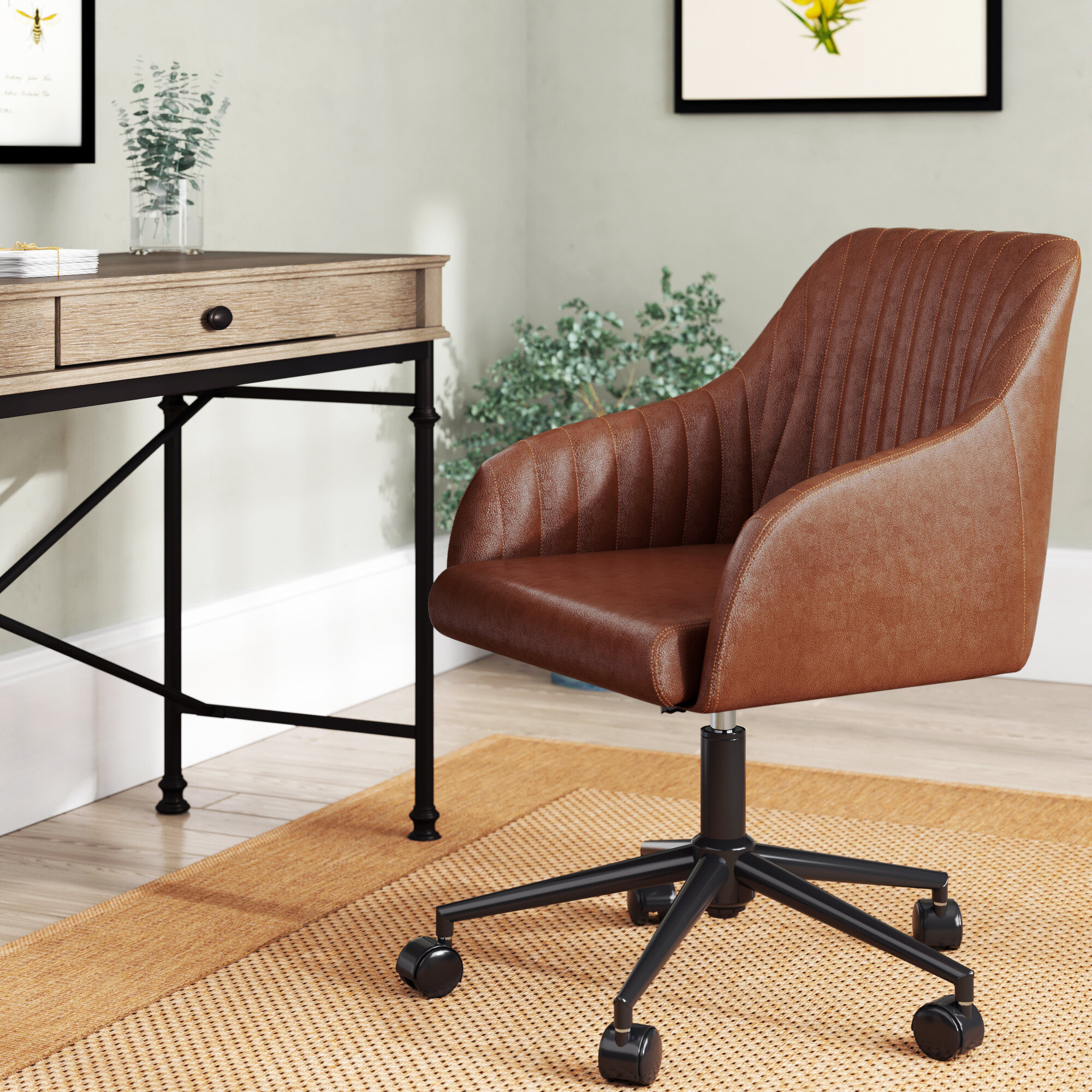 Modern Farmhouse Office Chairs You Ll Love In 2020 Wayfair