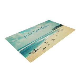 Sylvia Cook Paradise Tan/Blue Area Rug