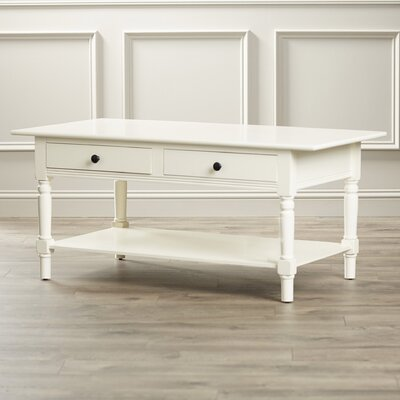 Boris Coffee Table Color: Distressed Cream by Andover Mills
