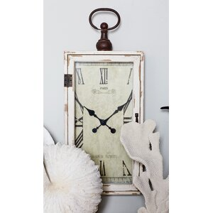 Smart Wood Metal Wall Clock