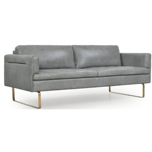 Everly Quinn Gillham Leather Sofa