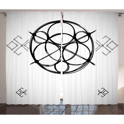 Latitude Run Connell Sacred Geometry Sketchy Geometric Plan With