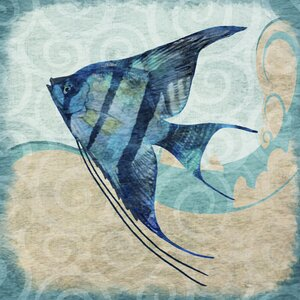 'Fish Angel' Graphic Art on Wrapped Canvas