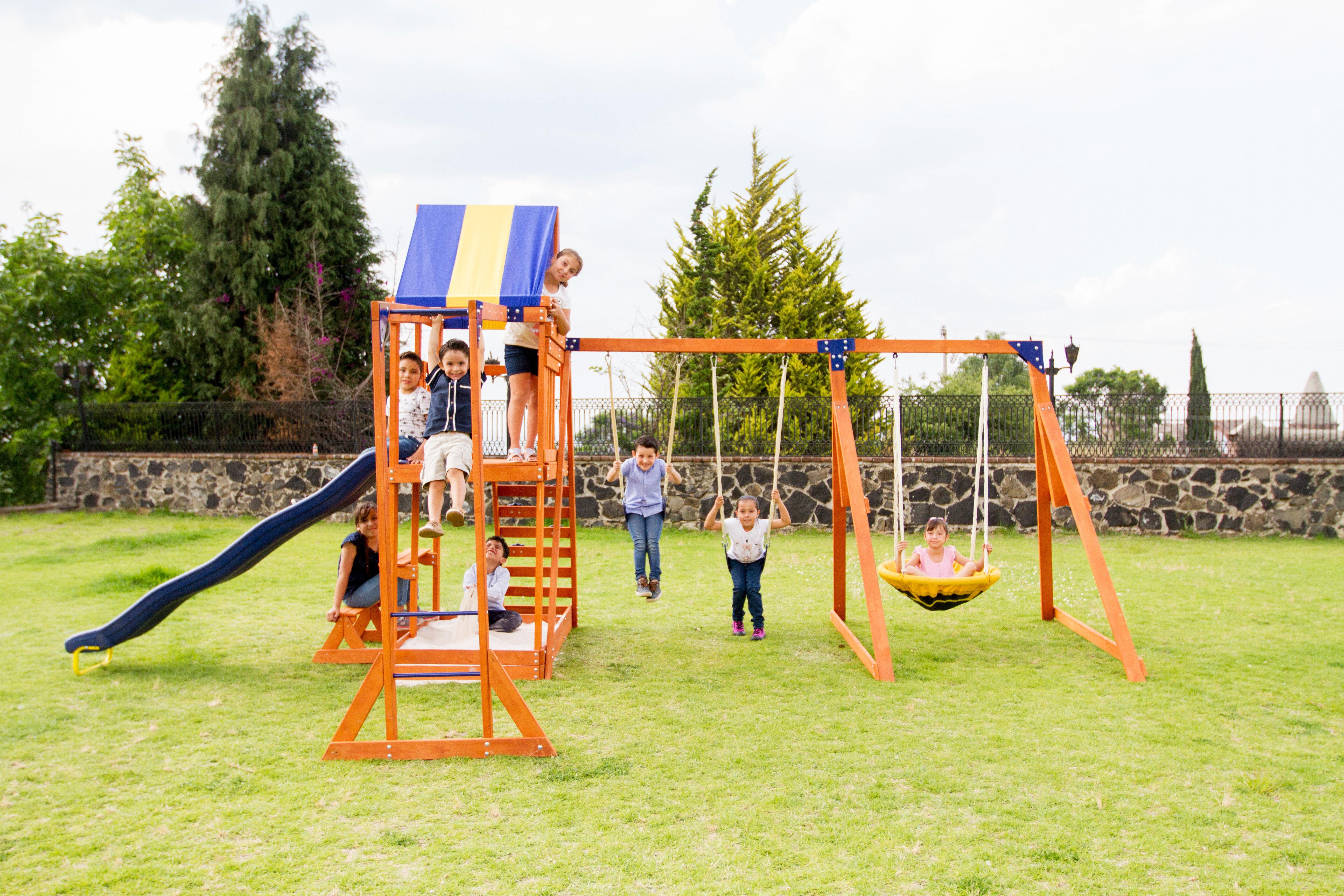 Swing-N-Slide Yellow SWING SEAT Playground Swingset Park Backyard Strap Chain MA