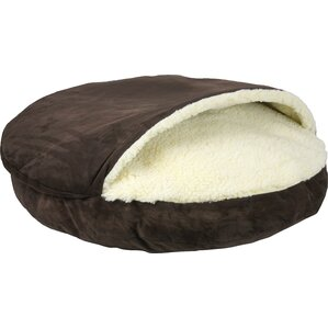 cozy cave luxury hooded pet bed