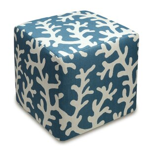 Coral Cube Ottoman by 123 ..