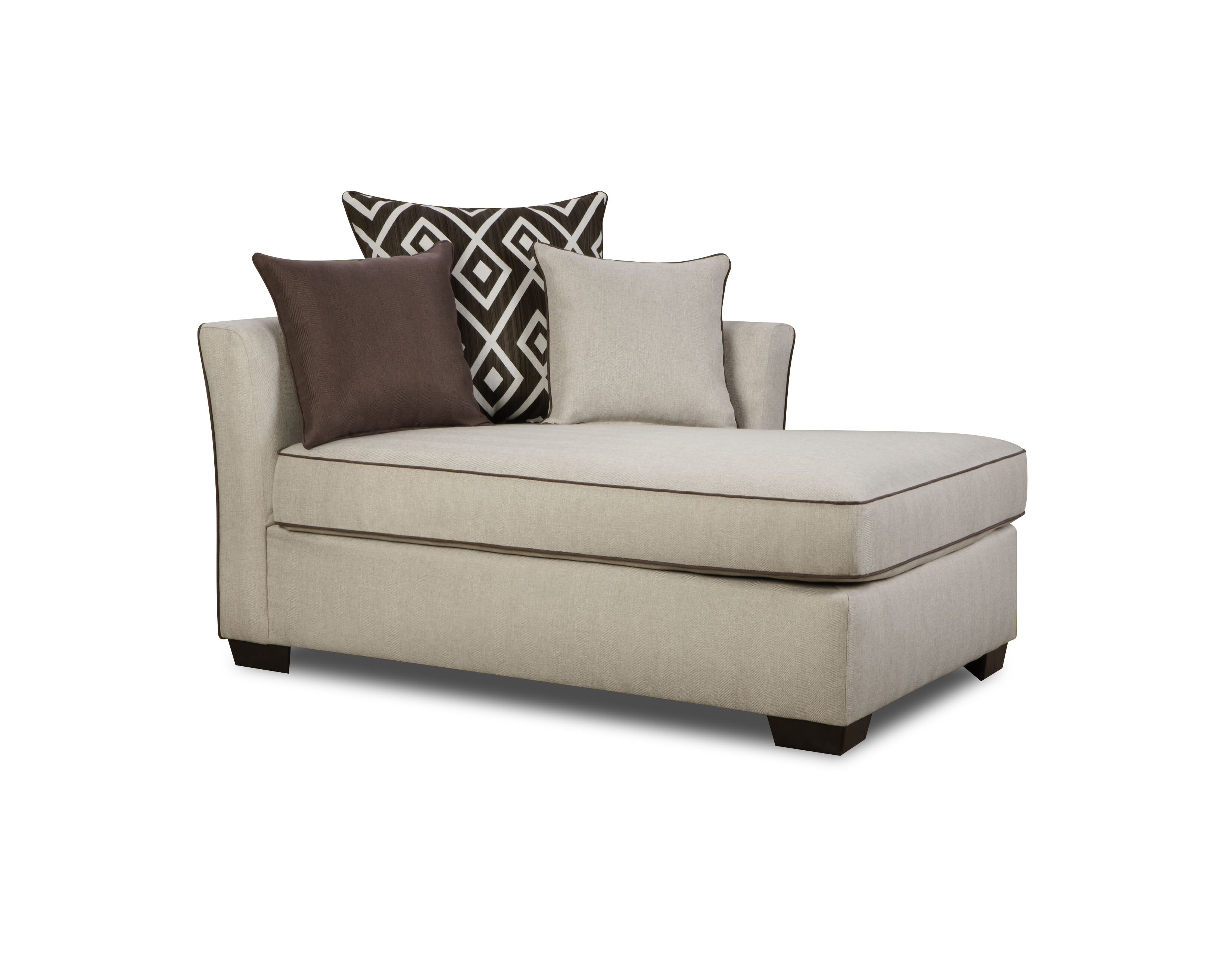 sofa chaise sleeper lounge lazar w open endicott full paragon product loveseat with