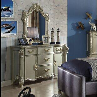 Andrew Home Studio Landor 5 Drawer Combo Dresser with Mirror