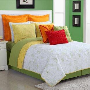 Cotton 3 Piece Reversible Quilt Set