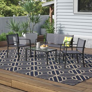 Bothwell Outdoor Patio Leisure 4 Piece Dining Set by Orren Ellis