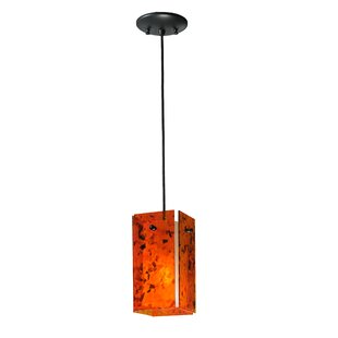 Metro Magma Quadrato 1-Light Square/Rectangle Pendant by Meyda Tiffany