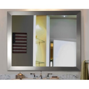 Compare Modern Stainless Wall Mirror ByLatitude Run