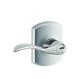 Accent Lever with Greenwich Trim Keyed Entry Lock by Schlage