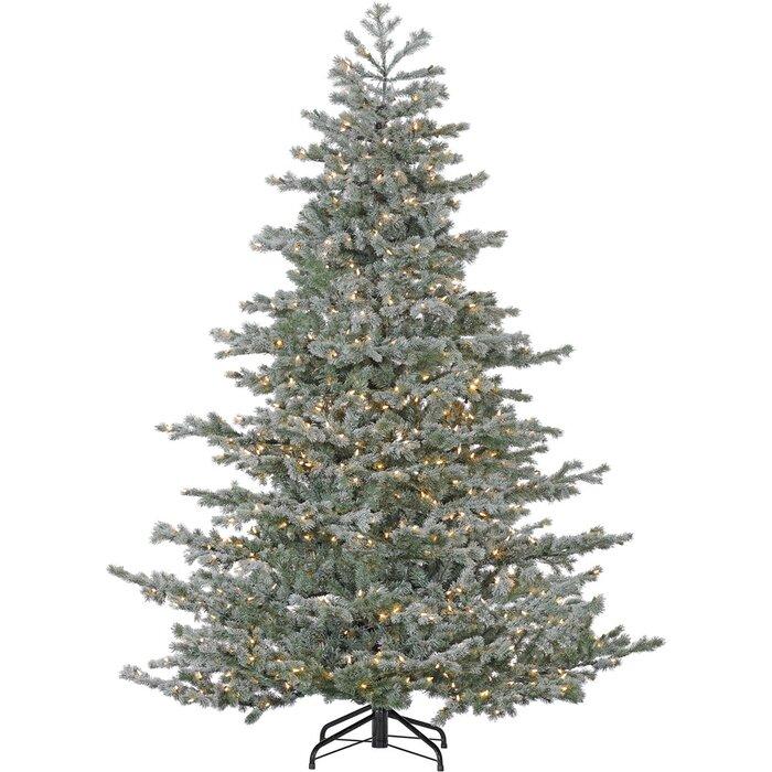 Christmas Trees Artificial.Oregon Green Snow Fir Trees Artificial Christmas Tree With 950 With White Smart String Lights