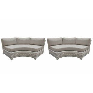 Fairmont Patio Sofa with Cushions (Set of 2) by TK Classics