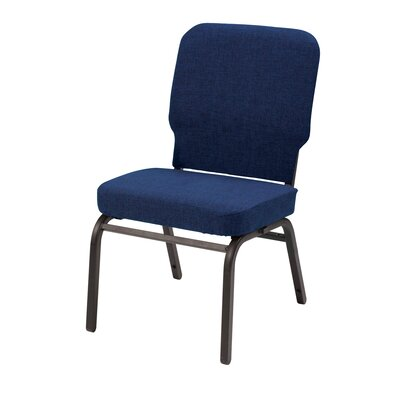 1040 Series Heavy Duty Stacking Chair with Cushion KFI Seating Seat Finish Indigo Fabric Arms Without Arms