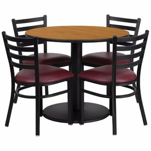 Amato Round Laminate 5 Piece Banquet Dining Set by Red Barrel Studio