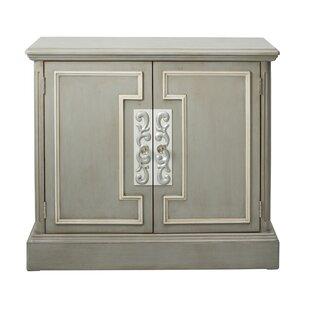One Allium Way Blue Overlay 2 Door Accent Cabinet