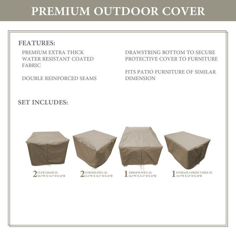 Sol 72 Outdoor™ Rochford Water Resistant 6 Piece Patio Furniture