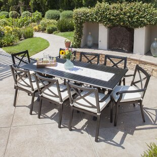 Maissane Outdoor 9 Piece Dining Set Gracie Oaks