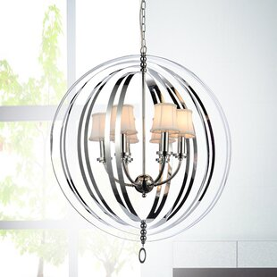 Orren Ellis Baird 5-Light Shaded Chandelier
