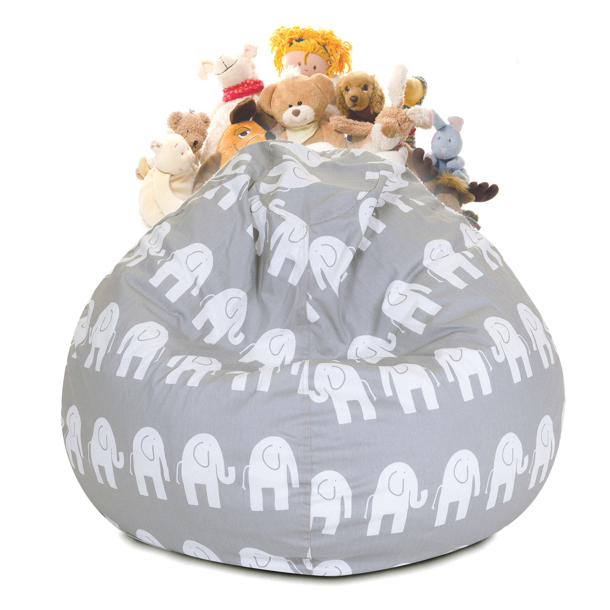 Delphi Stuffed Animal Toy Storage Bean Bag Chair