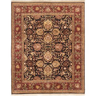 Great choice One-of-a-Kind Doney Hand-Knotted 8' x 10' Wool Black Area Rug By Isabelline