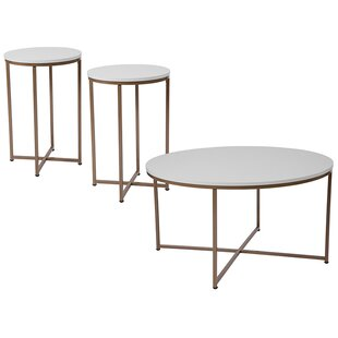 Winston Porter Stabler 3 Piece Coffee Table Set