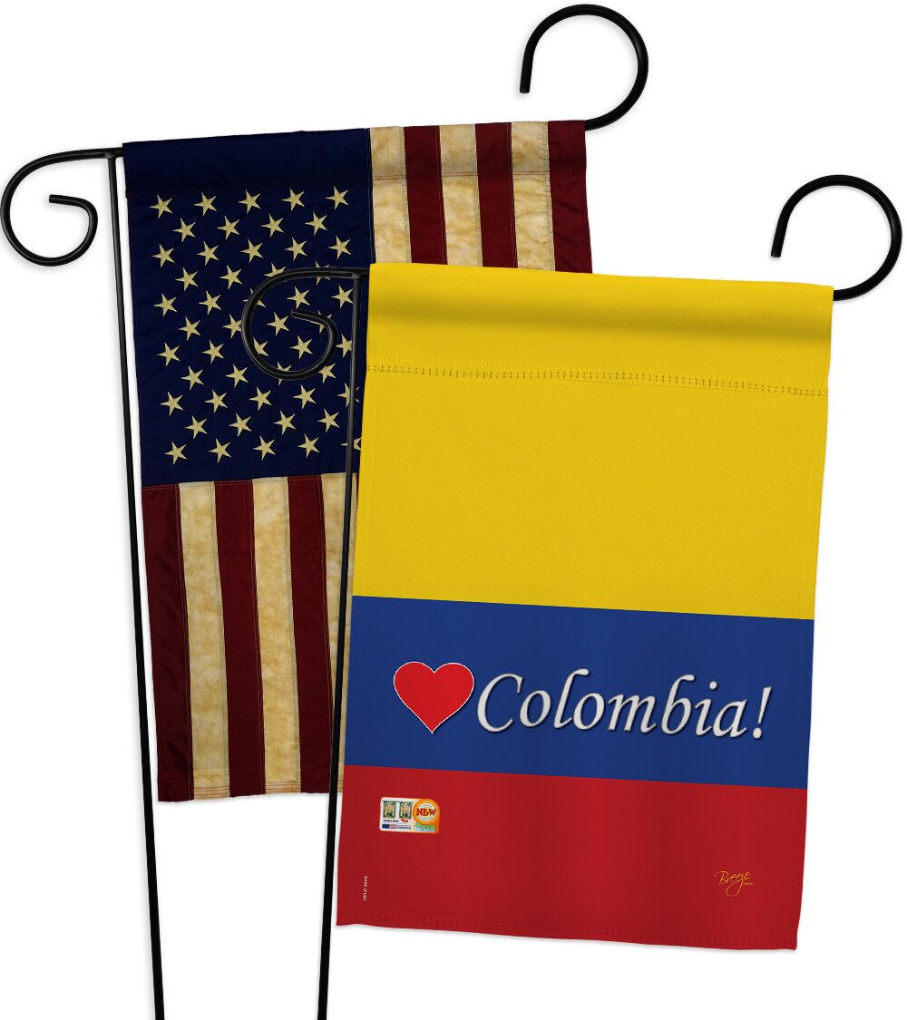 Breeze Decor Colombia Impressions Decorative 2 Sided Polyester 19 X 13 In 2 Piece Garden Flag Set Wayfair