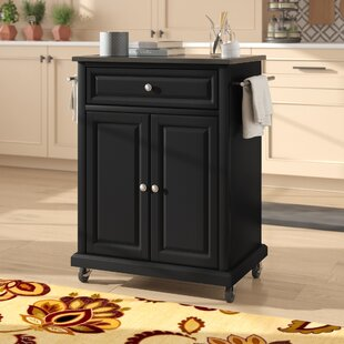 Celeste Kitchen Cart With Granite Top by Alcott Hill Discount