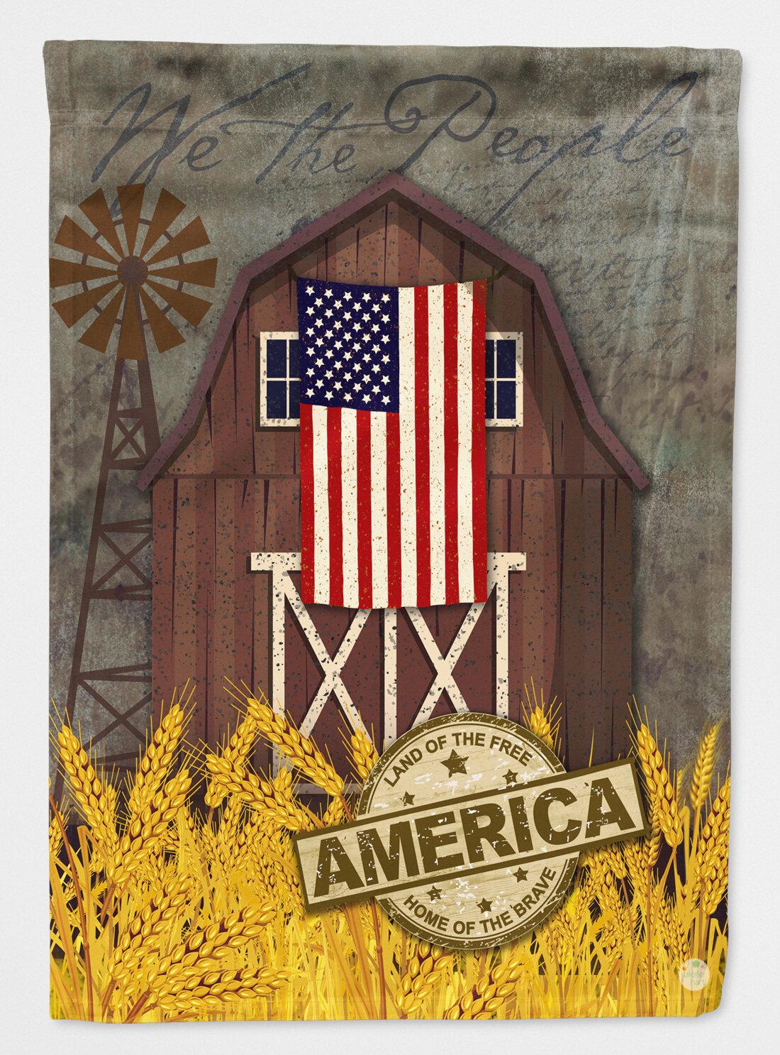 Caroline S Treasures Patriotic Barn Land Of America 2 Sided Polyester 40 X 28 In House Flag Wayfair