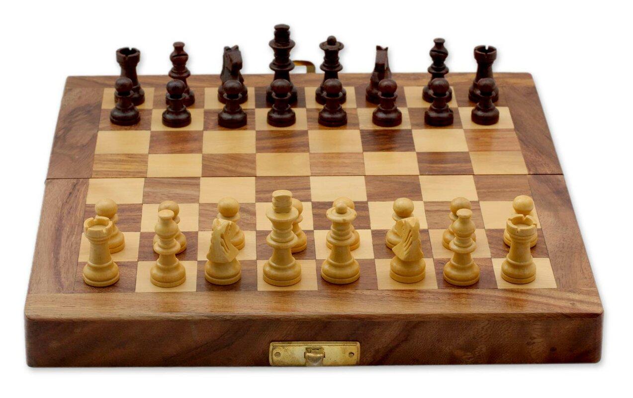 Open Foyer Chess : Novica fair trade decorative india wood chess set game