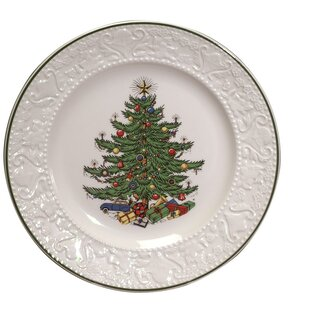 Original Christmas Tree 11.25\  Dickens Embossed Round Dinner Plate. by The Holiday Aisle  sc 1 st  Wayfair & Christmas Paper Plates   Wayfair