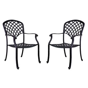 Idalou Stacking Patio Dining Chair (Set of 2)
