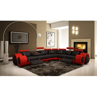 Compare prices Behr Reclining Sectional by Orren Ellis Reviews (2019) & Buyer's Guide