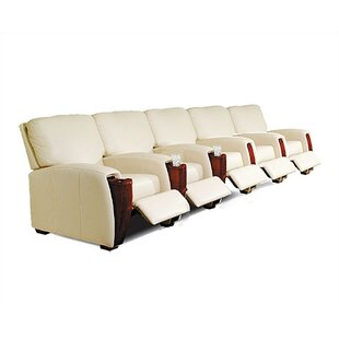 Celebrity Leather Home Theater Row Seating Row of 5 by Bass