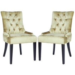 Inexpensive Reynesford Velvet Upholstered Dining Chair (Set of 2) by Charlton Home Reviews (2019) & Buyer's Guide