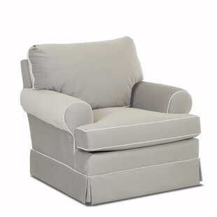 Klaussner Furniture Cavalier Swivel with Contrasting Welt Glider