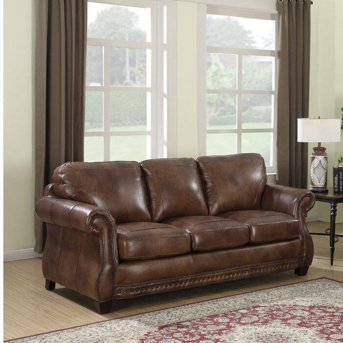 Enjoyable Beglin Cognac Leather Sofa Gmtry Best Dining Table And Chair Ideas Images Gmtryco