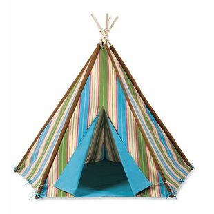 Magic Cabin Striped Canvas Play Teepee