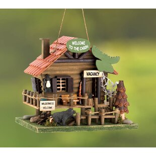 Zingz & Thingz Vacation Cabin 9 in x 8 in x 10.5 in Birdhouse