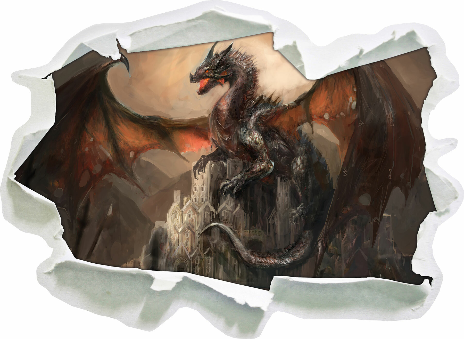 Wandtattoo Drache Dragon 01 Wandaufkleber Wandsticker Wandbild Sticker