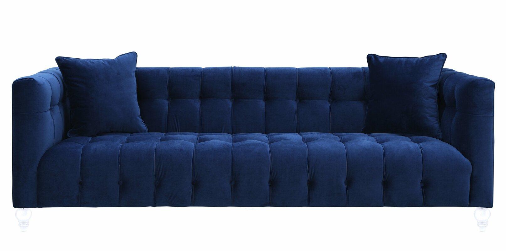 938 99 Mercer41 Kittrell Velvet Upholstery Sofa Dealepic