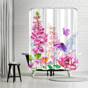 Harrison Ripley Foxglove Floral Single Shower Curtain