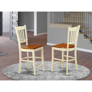 Groton Solid Wood 24 Counter Stool Set of 2 by Wooden Importers