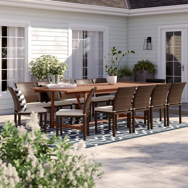Sol 72 Outdoor Brighton 13 Piece Dining Set With Cushions Reviews Wayfair
