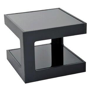 Atropos Modern Gl Top Cube End Table