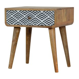 Jayla 1 Drawer Bedside Table By World Menagerie